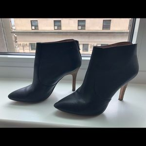 Madewell pointy toe black booties